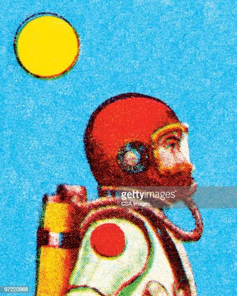 ilustraciones, imágenes clip art, dibujos animados e iconos de stock de spaceman - arma biológica