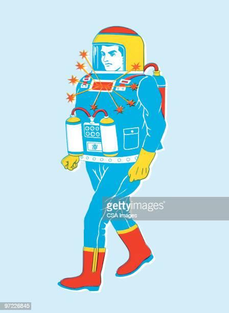 spaceman - exploration stock illustrations