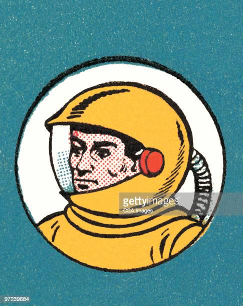 spaceman - helmet stock illustrations