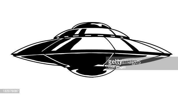 illustrations, cliparts, dessins animés et icônes de vaisseau spatial - extraterrestre