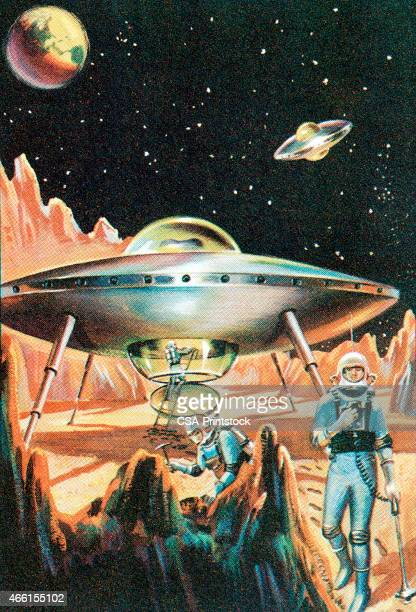 spaceship - astronaut stock illustrations, clip art, cartoons, & icons