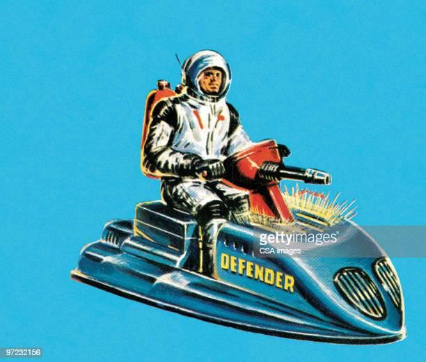 illustrations, cliparts, dessins animés et icônes de spaceship - enigme