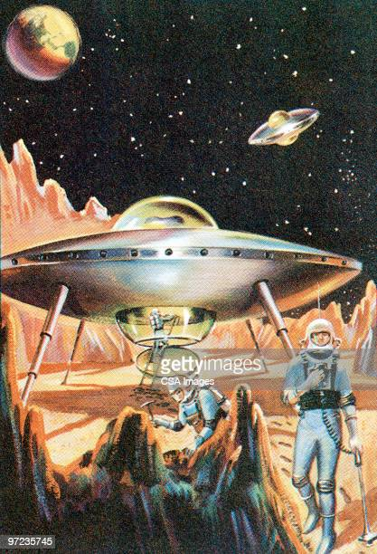 spaceship - image stock illustrations