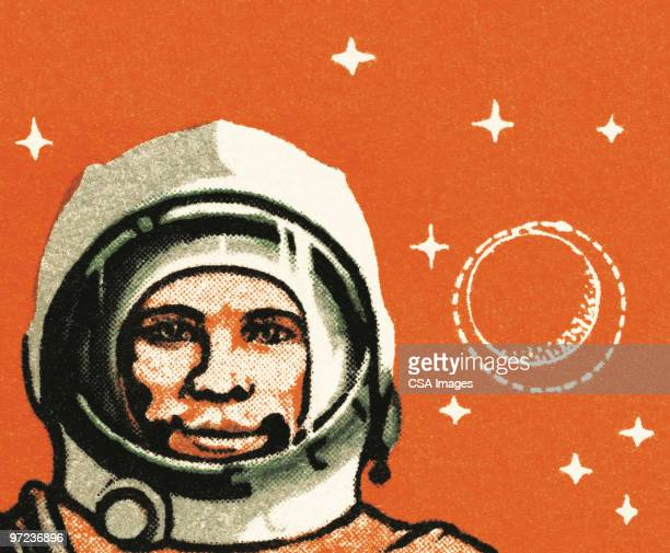 spaceship - helmet visor stock illustrations, clip art, cartoons, & icons
