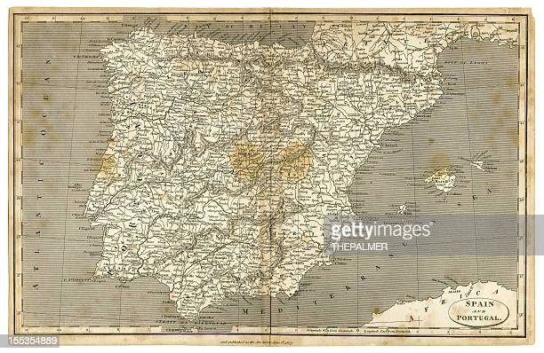 spain and portugal map 1807