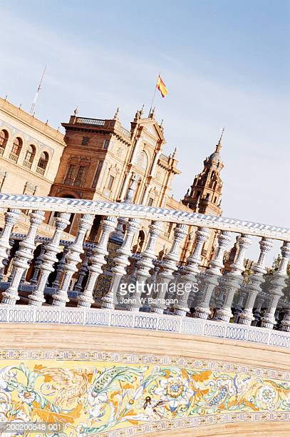 spain, andalucia, seville, plaza de espana - seville stock illustrations, clip art, cartoons, & icons