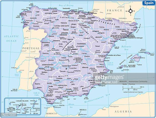 spain country map - canary islands stock illustrations, clip art, cartoons, & icons