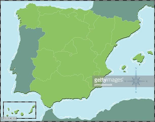 spanien, karte - valencia spain stock-grafiken, -clipart, -cartoons und -symbole