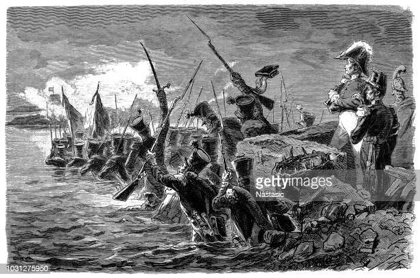 spain, revolution 1820 - 1823, french intervention, storming of the trocadero, cadiz, 30.8.1823 - animals charging stock illustrations, clip art, cartoons, & icons