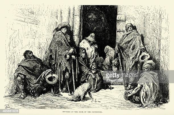 Spanish Pictures - Beggars at the Door of the Cathedral