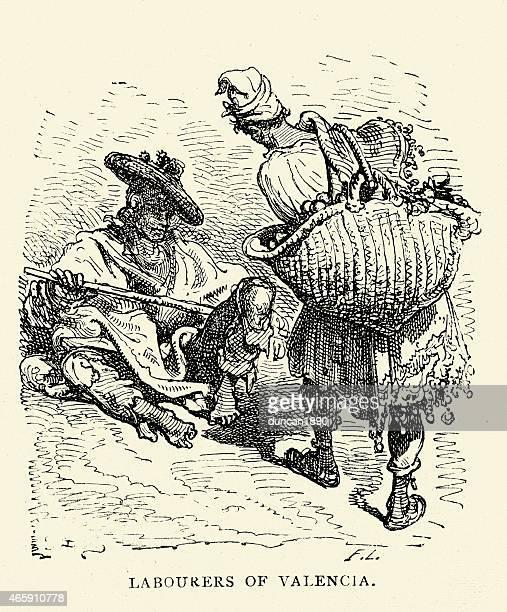 ilustrações, clipart, desenhos animados e ícones de espanhol fotos de assalariados de valência - valencia spain