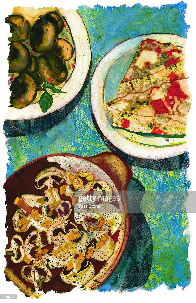 Spanish Tapas : Stock Illustration