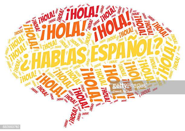 spannish language - spanish culture stock illustrations