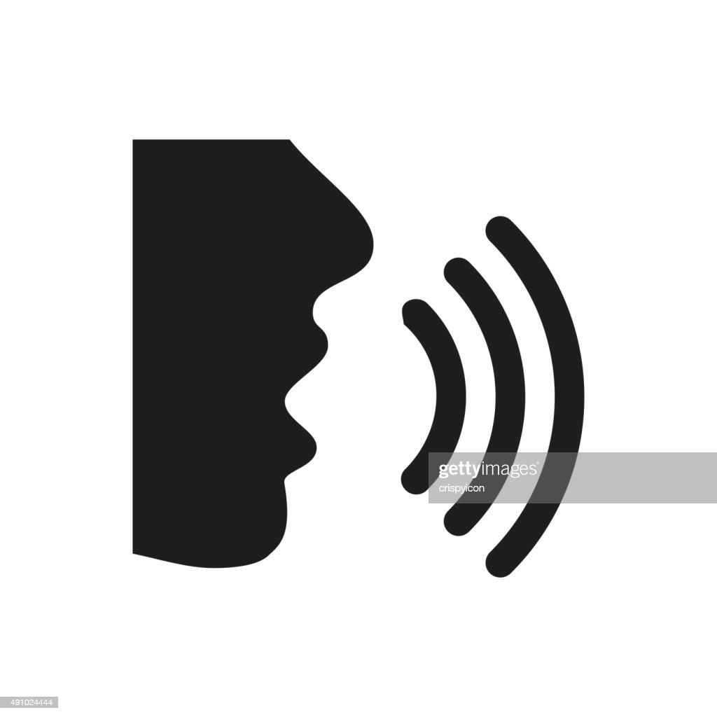 Speaking icon on a white background. - SingleSeries : stock illustration