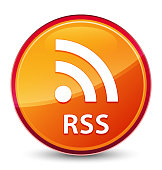 RSS special glassy orange round button