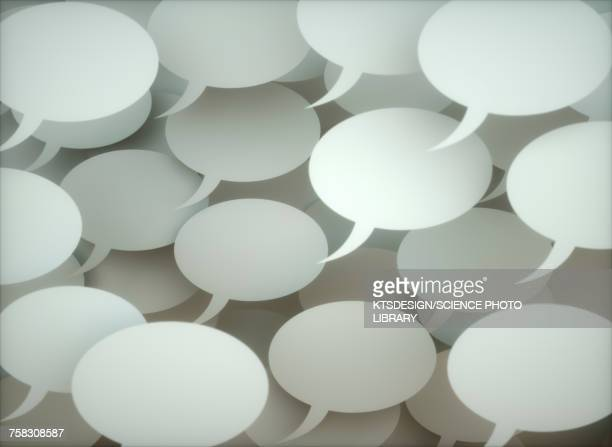 Speech bubbles, illustration