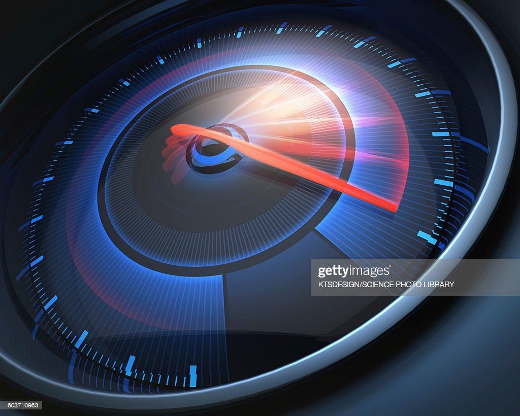 Speedometer, illustration : Ilustração