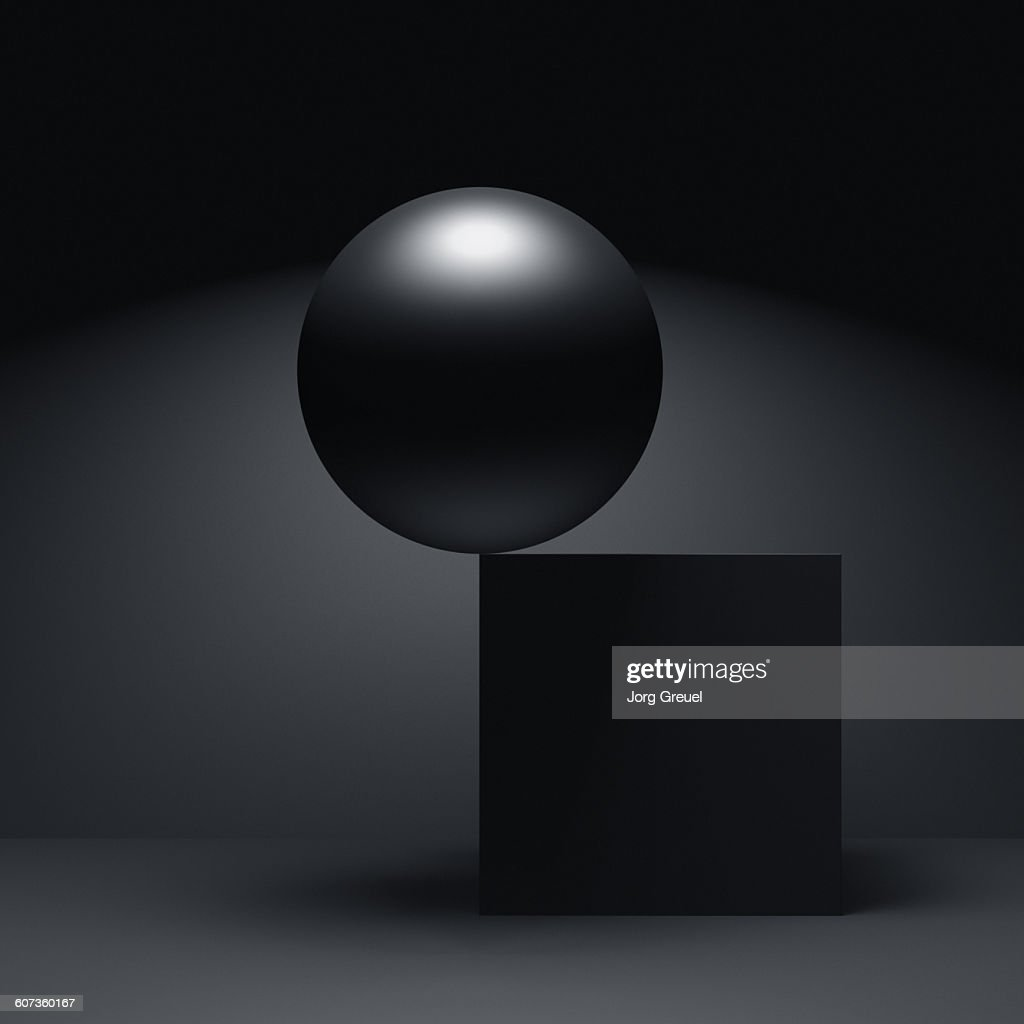 Sphere and cube : stock illustration