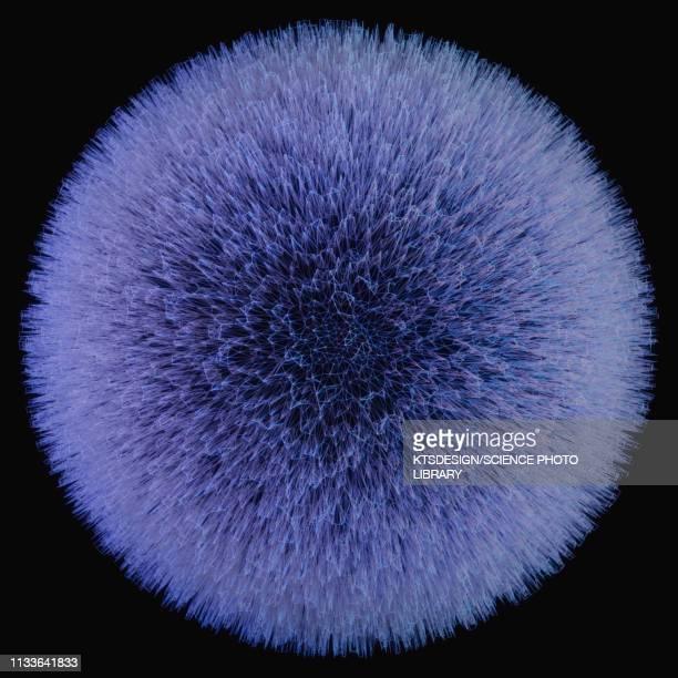 sphere with spikes, illustration - purple stock illustrations