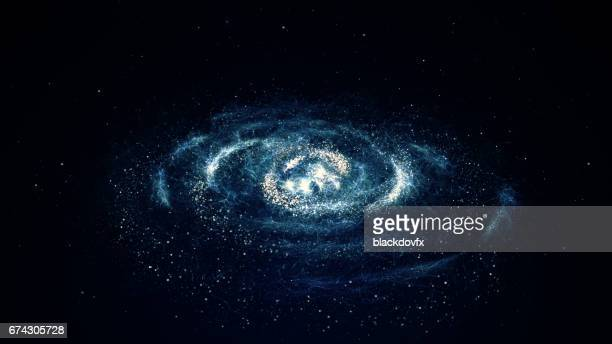 spiral galaxy - milky way stock illustrations