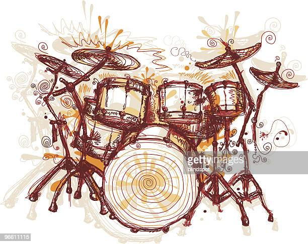 illustrations, cliparts, dessins animés et icônes de éclabousser tambours - tambour et batterie