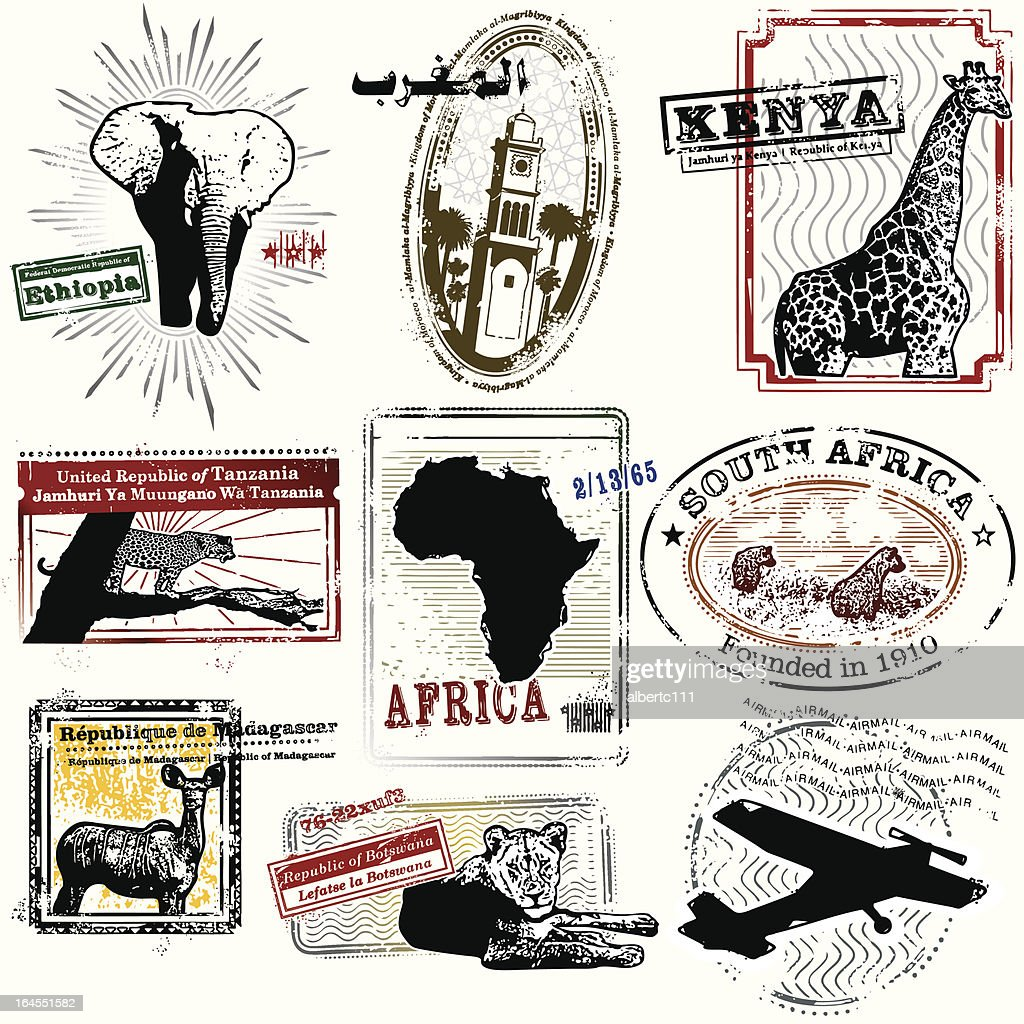 Splendid African Travel Stamps