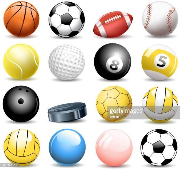 sport balls - ball stock illustrations