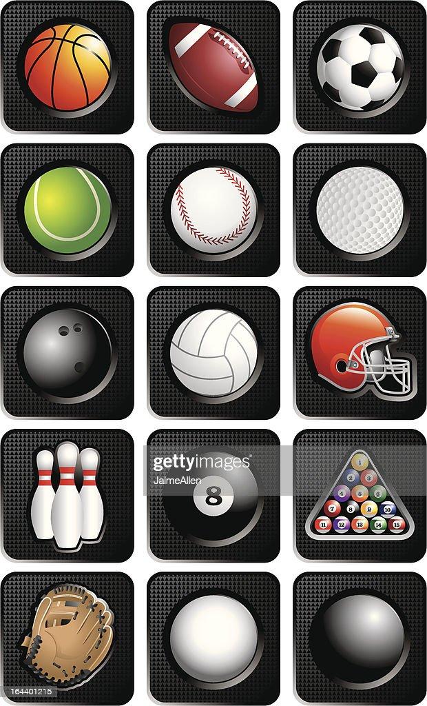Sport balls web buttons