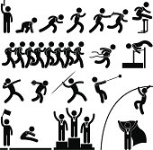 Sport Field and Track Game Event Pictogram