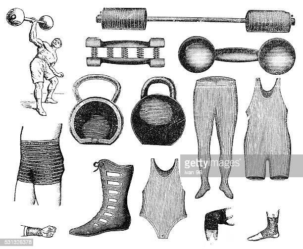 sport - weight training stock illustrations