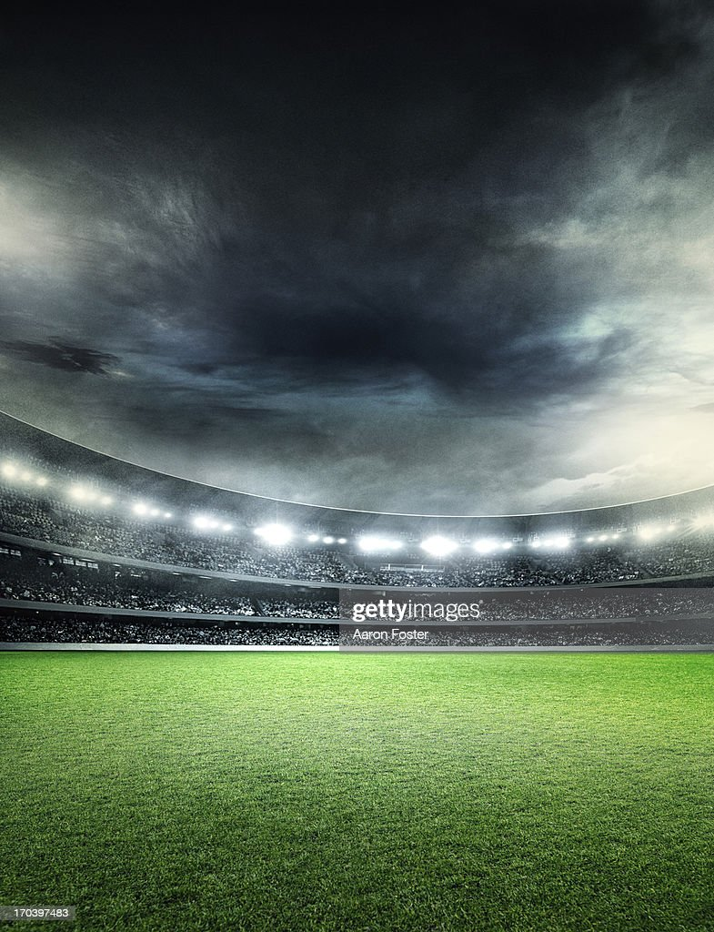 Sports stadium at night : Stockillustraties