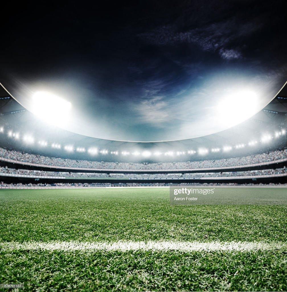 Sports stadium at night : Stock Illustration
