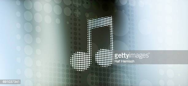 spotted musical note against colored background - colour gradient stock illustrations