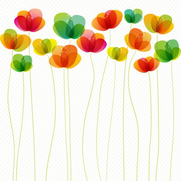 spring flowers (seamless) - femininity stock illustrations