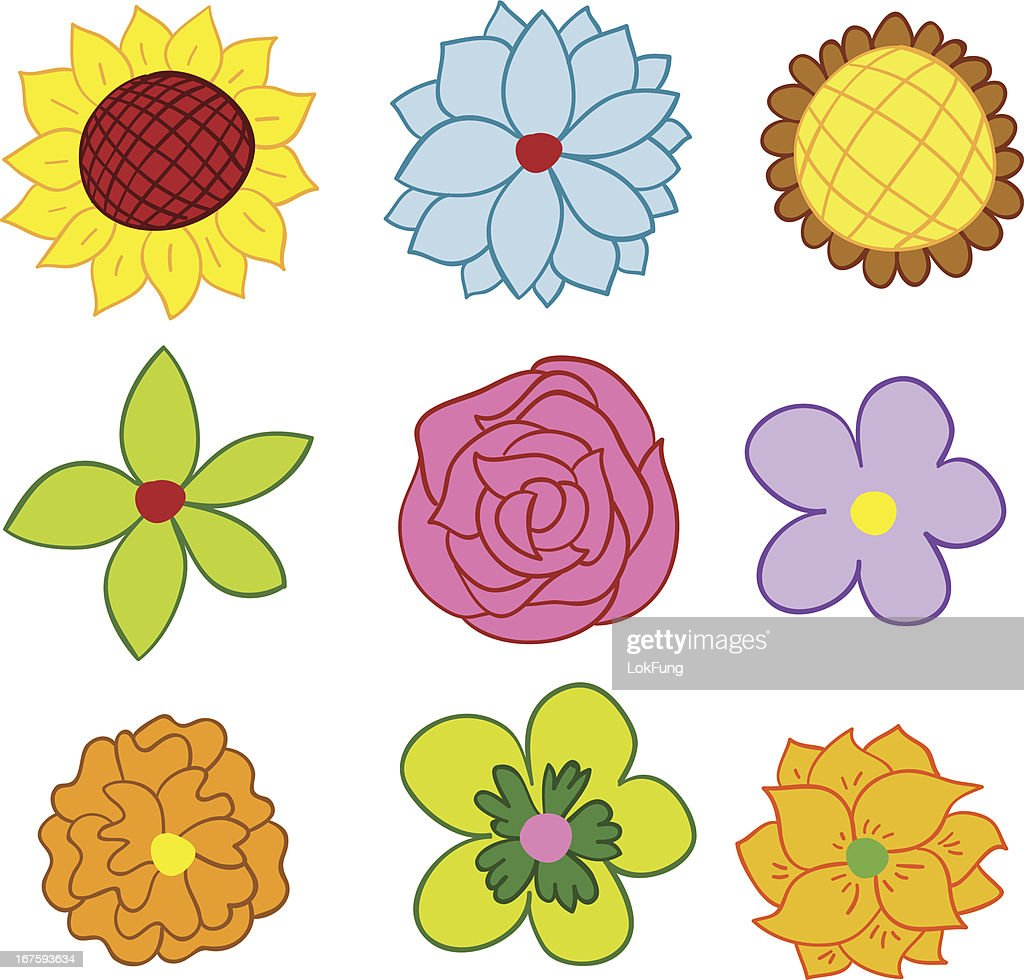 Spring Flowers Vector Art Getty Images