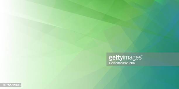 spring green minimal fold line background - green color stock illustrations