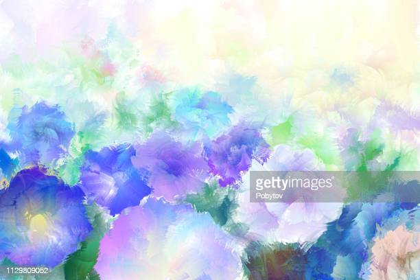 spring meadow, watercolor painting - softness stock illustrations