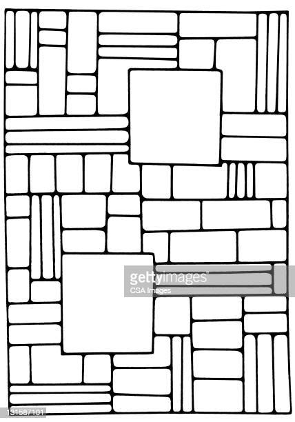 square and rectangle pattern - angle stock illustrations