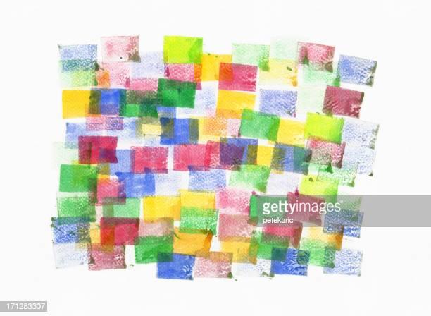 Quadrado em Aquarela pintada padrão