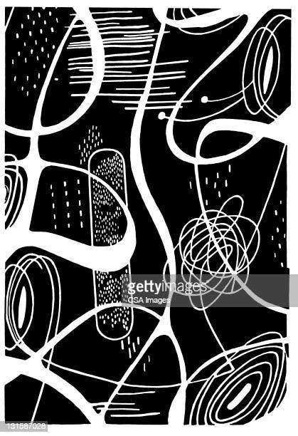 squiggle shape pattern - artistic product stock illustrations