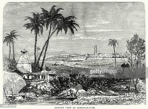 srirangapatna in the 19th century - karnataka stock illustrations