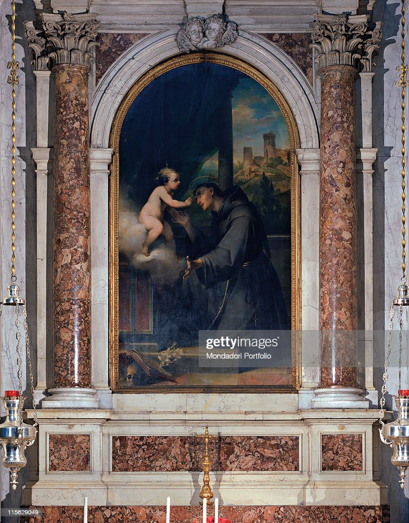 St Anthony of Padua Adoring the Child, by Grigoletti Michelangelo, 1866, 19th Century, canvas : Fine art
