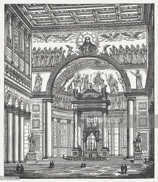 ilustrações de stock, clip art, desenhos animados e ícones de st. paul fora das paredes, publicada em 1878 - nicho