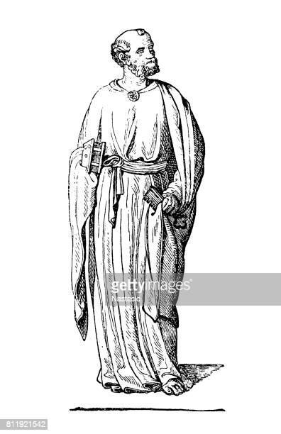 st. peter - religious saint stock illustrations