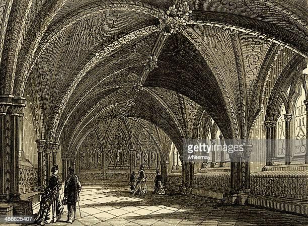st イシュトヴァーンクリプト、旧宮殿のような雰囲気のウエストミンスター - クリプト点のイラスト素材/クリップアート素材/マンガ素材/アイコン素材
