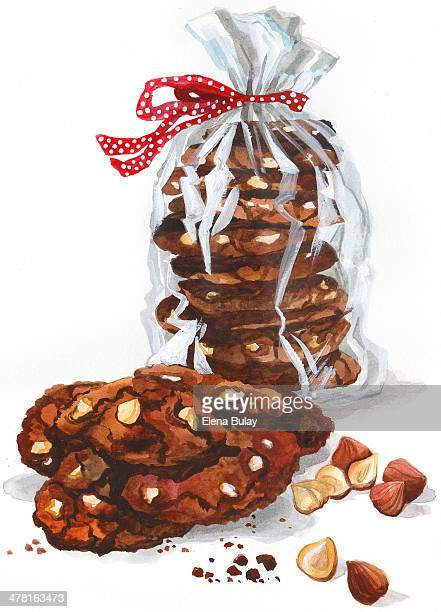A stack of cookies wrapped with a bow