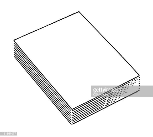 stack of papers - corporate business stock illustrations