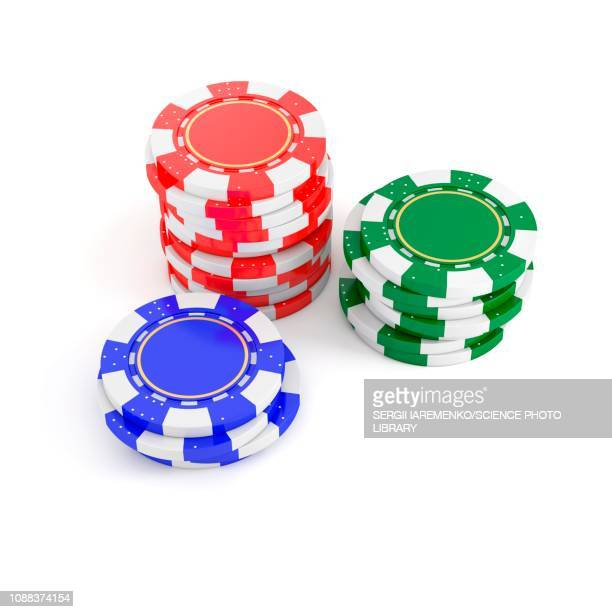 Stacks of poker chips, illustration