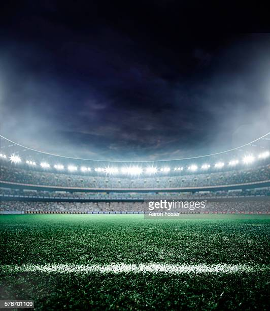 stadium lights - football field stock illustrations, clip art, cartoons, & icons