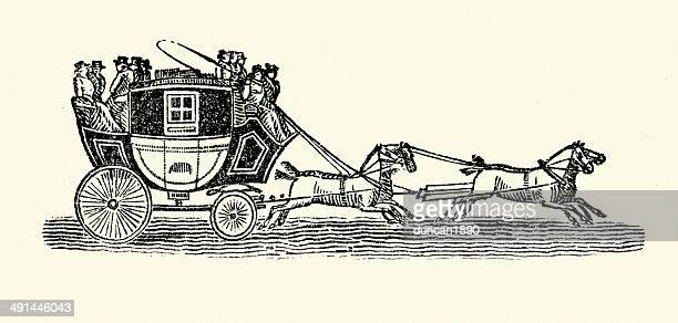 stagecoach - carriage stock illustrations